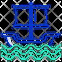 Pirate Ship Galleon Cruise Icon