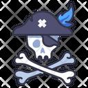 Pirate Skull Skeleton Icon