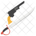 Pirate Weapon Gun And Sword Armament Icon