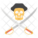 Pirates Skull With Sword Crossed Pirate Icon