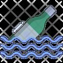 Pirates Bottle Bottle Sea Bottle Icon