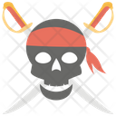Pirates Skull Skull With Sword Crossed Pirate Icon