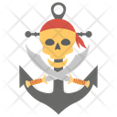 Pirate Skull Skull With Sword Crossed Pirate Icon