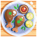 Piri piri chicken Icon