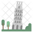 Pisa Leaning Tower Icon