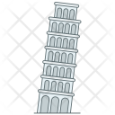 Pisa Tower Building Icon