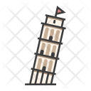Leaning Tower Pisa Icon
