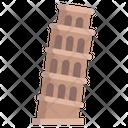 Pisa Tower Italy Landmark Icon
