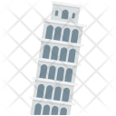 Pisa Tower Leaning Icon