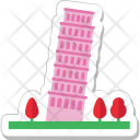 Pisa Tower Italy Icon