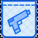 Pistol Evidence Gun Icon
