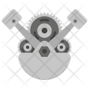 Piston and Gear Icon