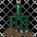 Pitchfork Gardening Tool Icon