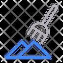 Pitchfork Construction Soil Icon