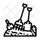Pitchfork Shovel Pile Icon
