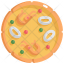 Pizza Squid Seafood Icon