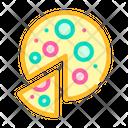Vegan Pizza Color Icon