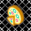 Vegan Pizza Isometric Icon