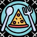 Pizza Dish Slice Icon
