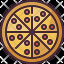Pizza Serving Dish Room Service Icon