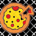 Fast Food Pizza Slice Cheesy Pizza Icon