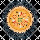 Pizza Badge Icon