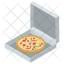 Junk Food Italian Cuisine Pizza Box Icon