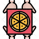 Pizza Box Hand Icon