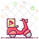Pizza Delivery Delivery Vehicle Delivery Scooter Icon