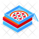 Pizza Delivery Order Boxes Icon