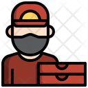 Pizza Delivery Man Pizza Delivery Boy Parcel Delivery Icon