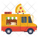 Pizza Delivery Truck Icon