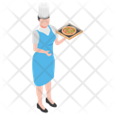 Pizza Serving Pizza Chef Restaurant Waiter Icon