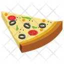 Pizza Slice Fast Food Junk Meal Icon