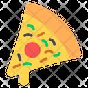 Pizza Slice Fast Food Junk Food Icon