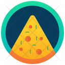 Pizza Slice Badge Food Badge Fast Food Icon