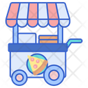 Pizza Stall Pizza Cart Pizza Store Icon