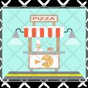 Pizza Stall Cart Restaurant Icon