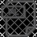 Pl File Document File Icon