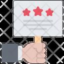 Placard Slogan Hand Icon
