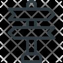Place Landmark Crossroad Icon