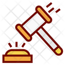 Place Bid Bidding Hammer Icon