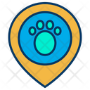 Placeholder Animal Location Footprint Location Icon