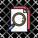 Plagiarism Search Document Investigation Icon