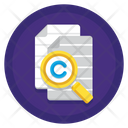 Plagiarism Search Document Investigation Icon
