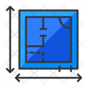 Blueprints Plan Measurement Icon