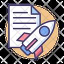 Plan Startup Plan Launching Process Icon