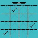 Plan Calendar Check Icon