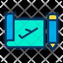 Plan Flight Icon