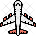 Airplane Flight Transportation Icon